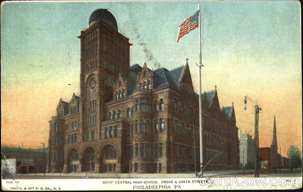 Boys Central High School, Broad & Green Streets Philadelphia Pennsylvania