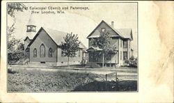 Methodist Episcopal Church An Parsonage Postcard