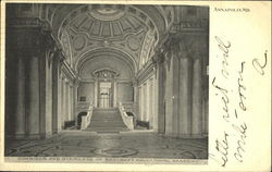 Corridor And Staircase Of Bancroft Hall Naval Academy