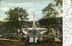 Down The Chutes, White City Postcard