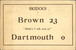 Brown vs. Dartmouth