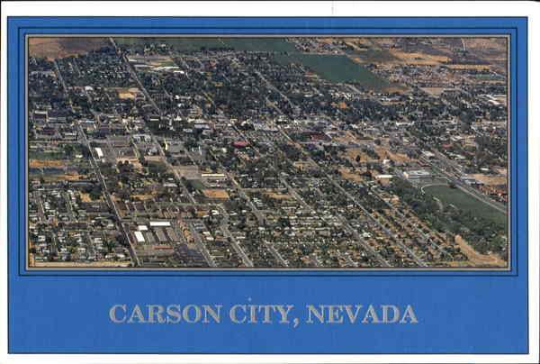 Aerial View Of Carson City Nevada
