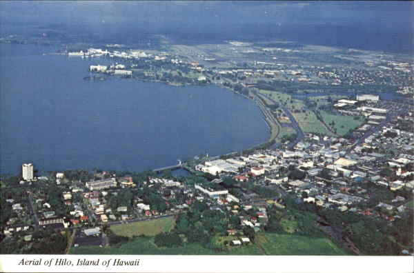 Aerial Of Hilo Hawaii