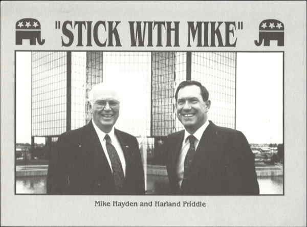 Mike Hayden And Harland Priddle Political