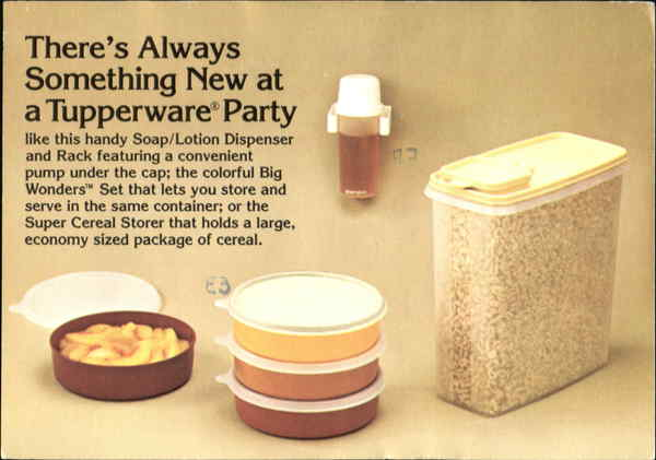 There's Always Something New At A Tupperware Party