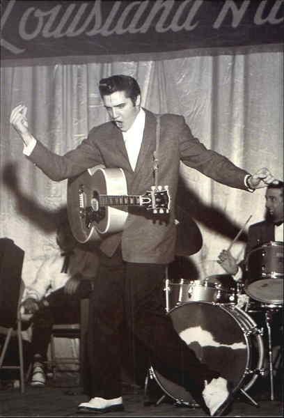 Elvis Performing At The Louisiana Hayride Radio Show