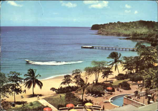 La Toc Bay From Hotel St. Lucia Caribbean Islands