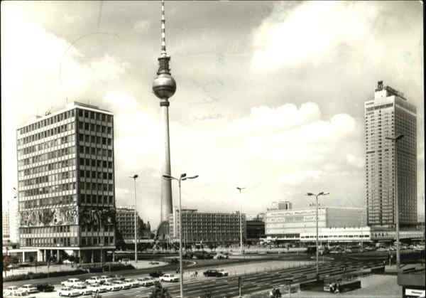 Am Alexanderplab East Berlin Germany