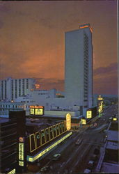 Spectacular View Of Hotels & Casinos Downtown Reno Postcard