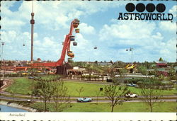 Rides At Astroworld Postcard