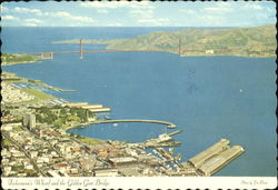 Fisherman's Wharf And The Golden Gate Bridge Postcard