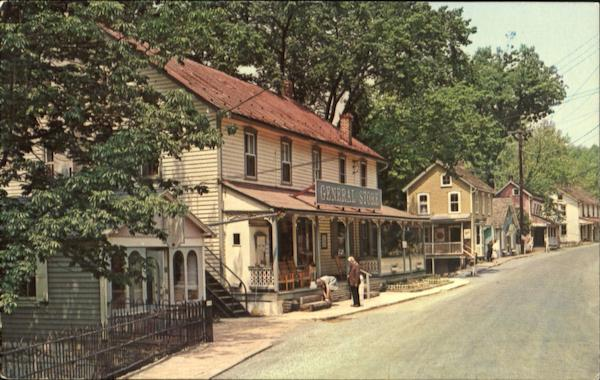 View Of General Store And Main Street Knauertown Pennsylvania