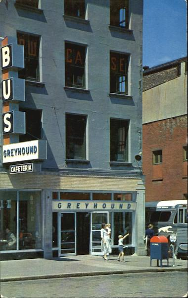 The Greyhound Bus Terminal Albany New York