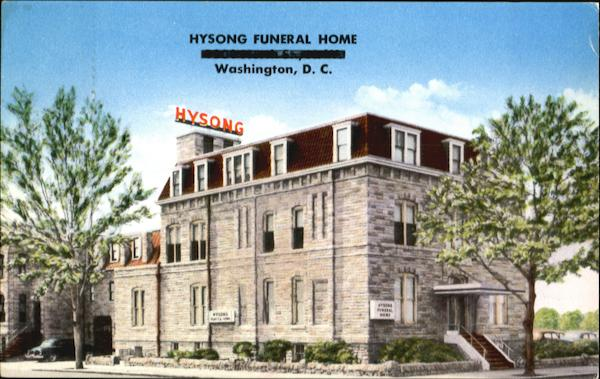 Hysong Funeral Home, 1300-N Street N.W Washington District of Columbia