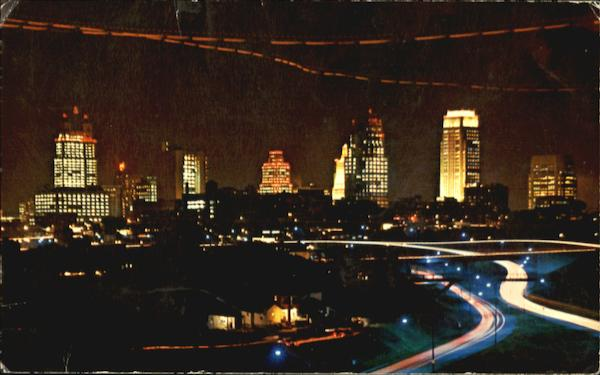 Kansas City Skyline By Night Missouri