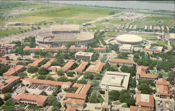 Arial View Of Louisiana State University Baton Rouge