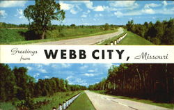 Greetings From Webb City Postcard