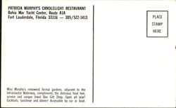 Patricia Murphy's Candlelight Restaurant, Bahia Mar Yacht Center, Route A1A
