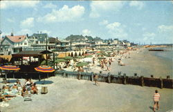 Beach And Boardwalk And Ocean Front Cottages