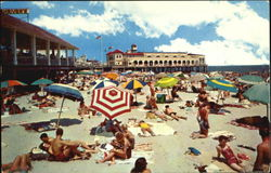 Beach And Bathing Scene, Misic Pier Postcard
