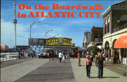 On The Boardwalk In Atlantic City Postcard