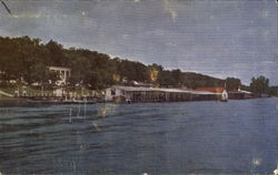 Boat Docks And Bathing Beach Postcard