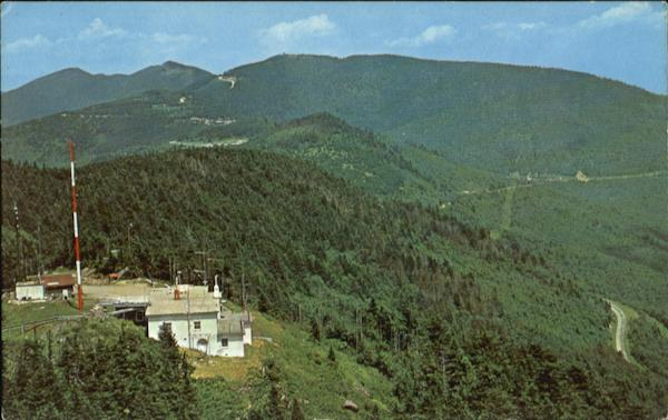 Aerial Of Mt. Mitchell Scenic North Carolina