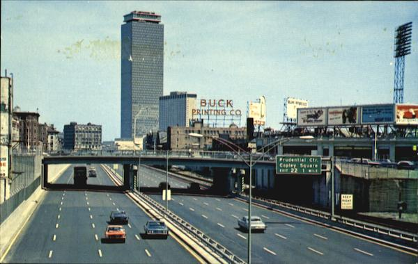 Approaching Prudential Center On The Massachusetts Turnpike Boston