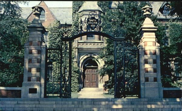 Administration Building And Gate At Smith College Northampton Massachusetts