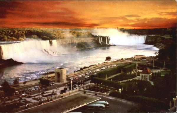 A Sunset View Of Niagara Falls New York