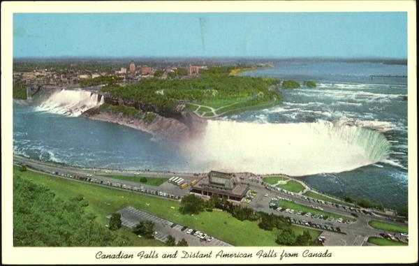 Canadian Falls And Distance American Falls From Canada, 454 Main St First St Niagara Falls New York