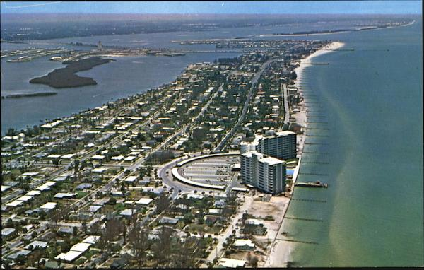 Air View Of Clearwater Beach Florida