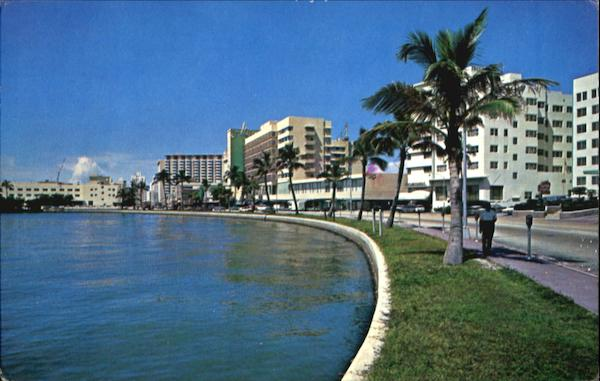 Lake Pancoast And Collins Avenue Miami Beach Florida