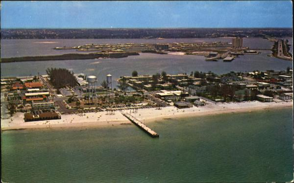 Air View Of Rockaway Beach And Pier Clearwater Florida