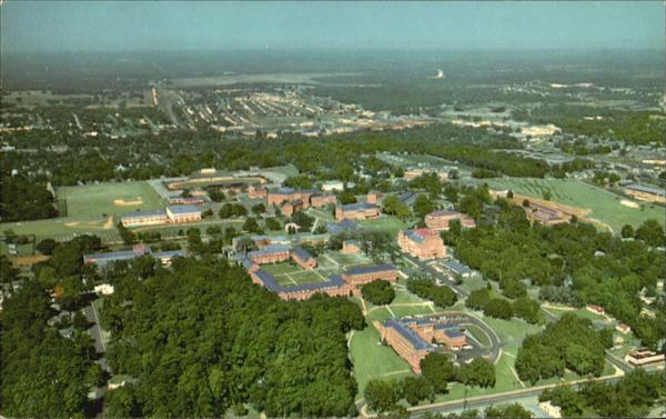 Aerial View Of Florida Agricultural And Mechanical, University Campus Tallahassee