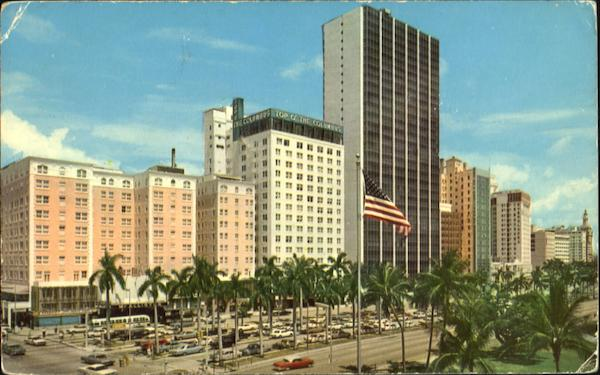 Biscayne Boulevard In Miami Florida