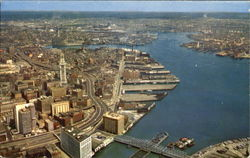 Air View Of Boston Waterfront