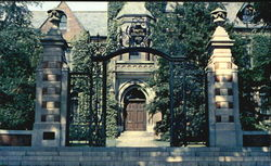 Administration Building And Gate At Smith College