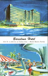 Barcelona Hotel, 43rd Street to 44th St. on Collins Ave Postcard