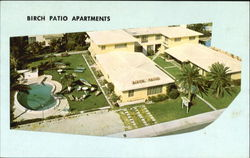 Birch Patio Apartments, 617 North Birch Rd Postcard