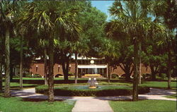 DuPont-Ball Library, Showing Holler Fountain, Stetson University