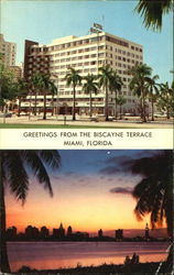 Greetings From The Biscayne Terrace, 340 Biscayne Boulevard Postcard