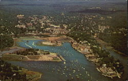 Aerial View Of Indian Harbor Postcard