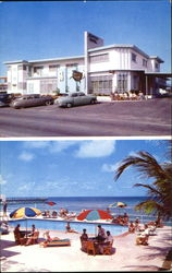 Ultra Modern Atlantique Motel, Collins Ave. at Sunny Isles Blvd. 163rd St. Rt. A1A 16501 Collins Ave Postcard