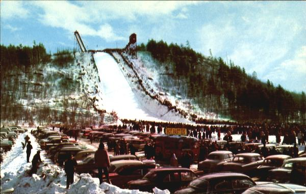 Pine Mountain Ski Jump And Landing Slope Iron Mountain Michigan