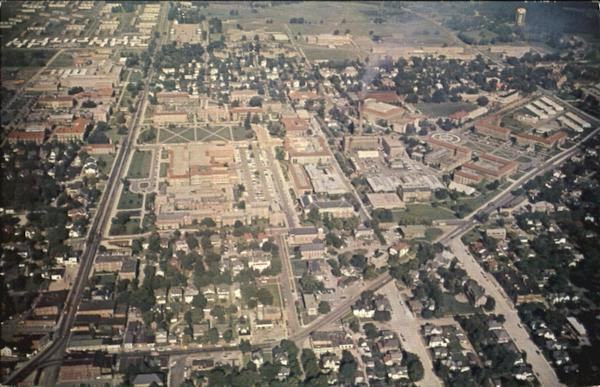 Aerial View Of Purdue University Campus West Lafayette Indiana
