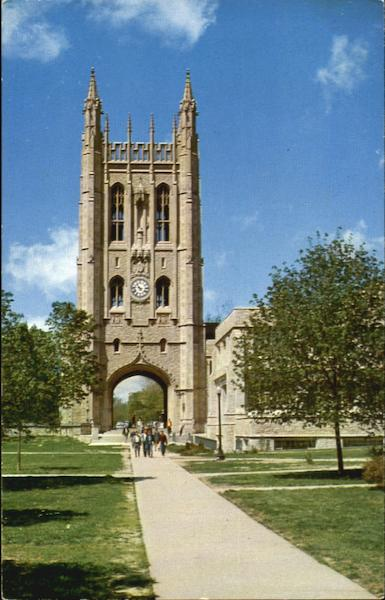 Memorial Tower And Memorial Student Union University Of