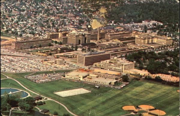 Aerial view of ncr s dayton factory ohio
