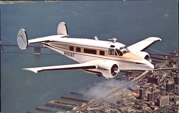 The Beechcraft Super H18 Over San Francisco California