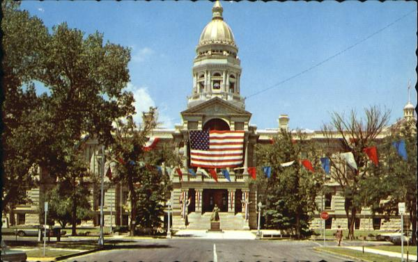 Vista Of The Wyoming State Capital Building Cheyenne
